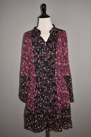 PAIGE NEW $329 Sonoma Two-Tone Floral Print Silk Dress Small