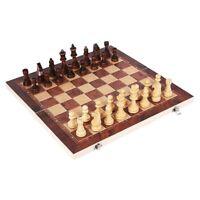 3 In 1 internationales Schachspiel aus Holz Massivholz Schachbrett Backgammon