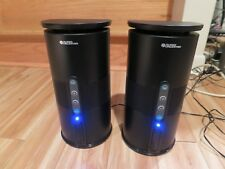 Audio Unlimited Wireless Indoor/Outdoor Speaker 900 Mhz Speakers Black Pair