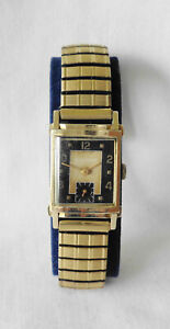 Vintage 1956 Men's 14K Yellow Gold Bulova Wristwatch 21j Cal 8AC Runs 11.7 Grams