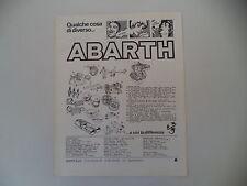 advertising Pubblicità 1976 ABARTH RICAMBI MARMITTE/MOTORE/CASCHI/ VOLANTI