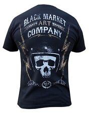 Black Market Art Company Borrowed Time Shirt NEW Mens Large Black Moto Tattoo