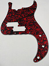 D'ANDREA PRO P BASS PICKGUARD 13 HOLE RED PEARLOID MADE IN THE USA
