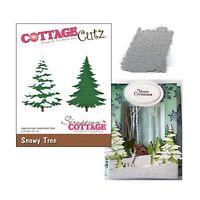 Snowy Tree Metal Die Cut Cottage Cutz Cutting Dies CC-181 Winter Snow Trees