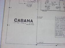 United Cabana Bingo Original Schematic 1953 Complete in two parts