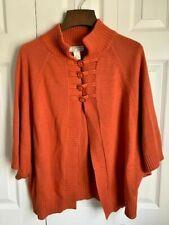 Isabella's Closet Orange Poncho Style Sweater Size 3X