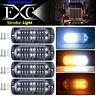 4PCS Strobe Lights Amber White 20-LED Emergency Flashing Warning Beacon 12V 24V