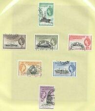 W0200 1954 FALKLAND ISLANDS QUEEN ELIZABETH II QE II FAMOUS SHIPS SET USED