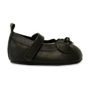 Baby Deer Black Soft Sole Mary Jane Shoes with Bow  Size 0 1 2 3