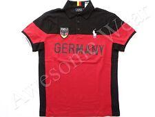 New Ralph Lauren Polo Pony Custom Fit Red 100% Cotton Germany Shirt SLIM sz M