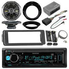 """Kenwood Bluetooth USB Radio,98-2013 Install FLHX Adpater Kit,Kicker 6.5""""Speakers"""