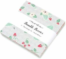 "Bumble Berries Moda Charm Pack 42 100% Cotton Fabric 5"" Precut Quilt Squares"