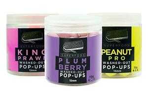 Crafty Catcher Superfoods Washed Out Pop Ups 15mm 70g King Prawn Peanut Pro Plum