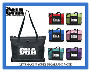 I'M A CNA WHAT'S YOUR SUPERPOWER FUNNY CUSTOM TOTE BAG PURSE COLOR CHOICES
