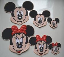 6x Mickey Mouse Minn Head Embroidery Iron On Cloth Fabric Applique Patch