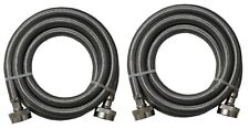Stainless Steel Washing Machine 4' Set Inlet Fill Hoses with Washers