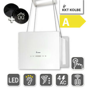 Dunstabzugshaube Inselhaube 40cm LED Beleuchtung Touch Select Display Edelstahl