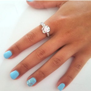 Ladies Solitaire Cocktail Ring Cubic Zirconia  Sizes 5,9,10 Silver Cocktail