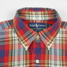 Vtg,Ralph Lauren,Blaire Style,L/S,Button Down,Multi-Color Plaid Men's Shirt Med