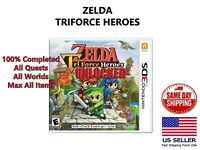 The Legend Of Zelda Triforce Heroes Nintendo 3DS 100% Completed Maxed Unlocked