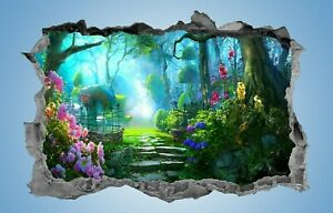 Enchanted,Forest,Sticker,Decal,3d,Fantasy,Bedroom,Wall Art,Mural