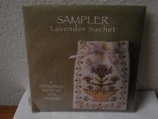 "Punto croce sacchetto lavanda ""Textile Heritage Collection"" lavander cross stich"