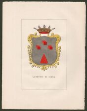 (Toscana) LANDUCCI DI SIENA. Grande stemma nobiliare inciso + 5 pagine di testo