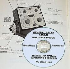 General Radio 1650 B Bridge Instructionopsrv Manual