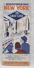 Vintage 1957 Seeing New York Gray Line Tour Brochure Tour Guide Map Advertising