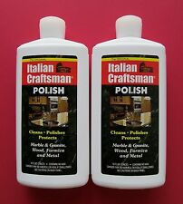 Granite and Marble Polish Italian Craftsman Polish 2-16 OZ Bottles FREE SHIPPING