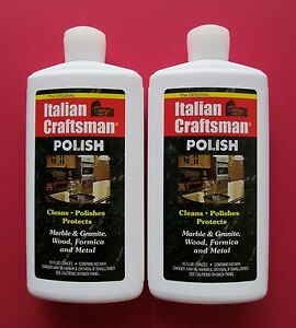 Italian Craftsman Polish 2-16oz Pack Marble Polish FREE USPS PRIORITY MAIL-USA