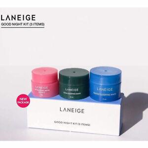 LANEIGE New Sleeping Care Good Night Kit (3 Items) Water,Cica,Lip Sleeping Mask