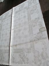herrliche große alte Tischdecke Tafeltuch Leinen + 12 Servietten Jugendstil