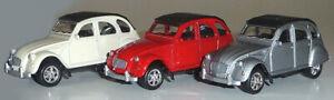 Citroen 2C Ente Modellauto ca. 7-8 cm Metall Spritzguss WELLY