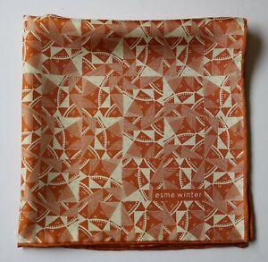 Silk Pocket square Esme Winter, Hand rolled