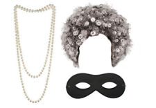 Gangster Granny World Book Day Fancy Dress Costume Gangsta (Pearls Eyemask Afro)