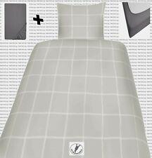 SatinBettwäsche135x200 80x80 und Spannbettlaken Jersey Baumwolle  GnW Checks