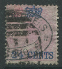 Straits Settlements 1867 24 cents on 8 annas used.