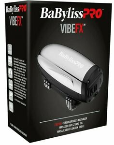 BaByliss PRO VIBEFX Massager Cord/Cordless 2-Spd Stainless Steel FXSSM1 Lithium