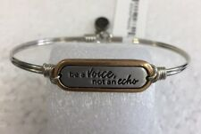 Luca + Danni Stella Be A Voice Not An Echo Stackable Bangle Bracelet Silver New