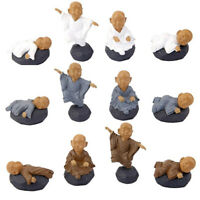12 Pcs Little Monks Figurines PVC Cartoon Ornaments Home Adornment for Gift
