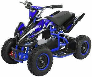 Elektro 1000W ATV Kinderquad Pocketquad Miniquad Racer Quad Pocket Bike blau NEU