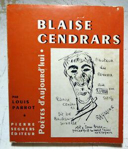 CENDRARS/L.PARROT/ED SEGHERS/COLL POETES D'AUJOURD'HUI/N°11/1961