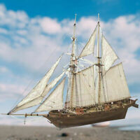 Halcon Ship Model Wooden Sailboat Toys 1:100 Scale 3D Building Toy Children Gift