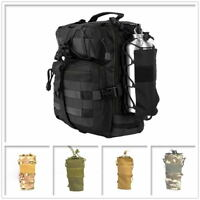 Tactical Molle Water Bottle Holder Belt Carrier Pouch Bag Travel Gear Kettle Bag