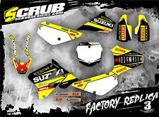 SCRUB Suzuki RM 85 2002 - 2017 Grafik Sticker Dekor-Set '02-'17