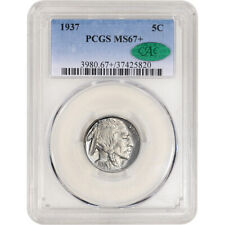 1937 US Buffalo Head Nickel 5C - PCGS MS67+ CAC Verified
