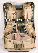 MOLLE GEN 4 ACU FRAME w/ Desert SHOULDER STRAPS and KIDNEY PAD Rifleman SET