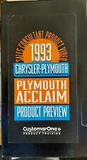 1993 Plymouth Acclain Product Preview Dealer VHS  VCR Cassette Tape