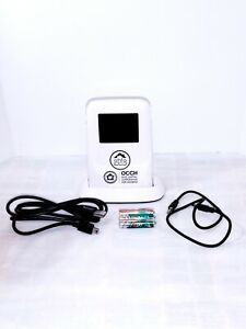 """Digital Photo Frame With Alarm Clock and Mood Light 2.4"""" White Open Box"""